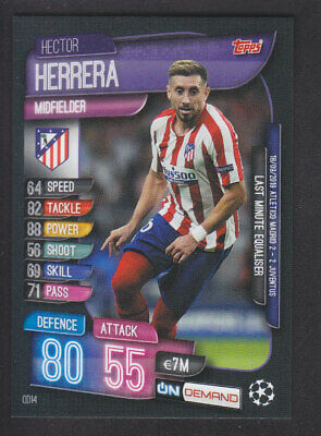 Match Attax - On Demand 2019/2020 - OD14 Hector Herrera - Athletico Madrid