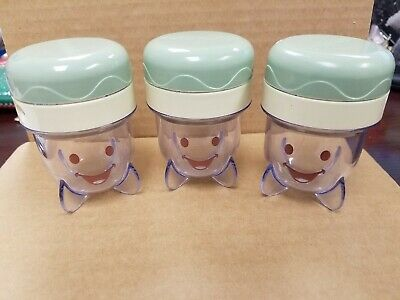 Baby Bullet Replacement Storage Cups - Individual Serving - Date Dial w/ Lid