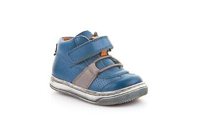 Froddo Denim Blue Little Boys Leather Sneaker shoe No Tie (G2130169)