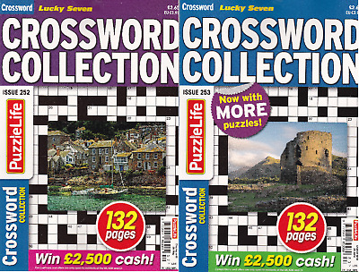 Crossword Puzzle Book X 2 Lucky 7 Issue 248 & 249 (Paperback) Brand New
