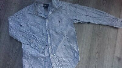 Nice Ralph Lauren Occasion Party Checked Boy Long Sleeve Shirt 8/9 Yrs 8 Yrs