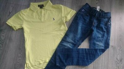 Next Ralph Lauren Boy Set Outfit Summer Party Jeans Polo Top 8-10 Yrs 8/9 Y 8Y