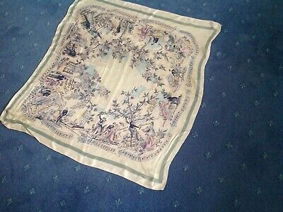 This vintage scarf from 50s or 60s featuring French scenes