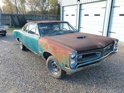 1966 Pontiac GTO -- 1966 Pontiac GTO Teal Coupe, 389 V8, MUNCI 4 SPEED, NEEDS TRAILERED