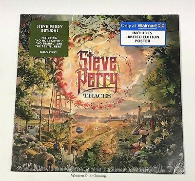Steve Perry Traces LP NEW Walmart Exclusive with Limited Edition Poster