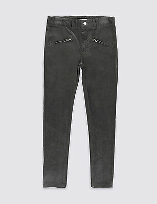 M&S GIRLS VELVETEEN TROUSERS WITH ADJUST WAISTBAND - BNWT -  5 -6 Yr
