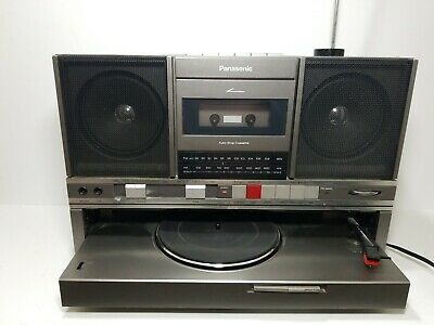 Vintage Rare Panasonic SG-J500 AM/FM Cassette Turntable Boombox Tested and Works
