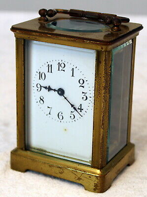 Old Vintage Brass Small CARRIAGE CLOCK (2) - Keeping time. FREE POSTAGE