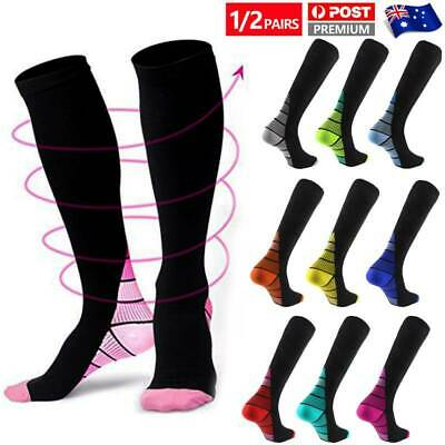 Compression Socks Medical Stockings Travel Flight Cyling Anti Fatigue Women Men