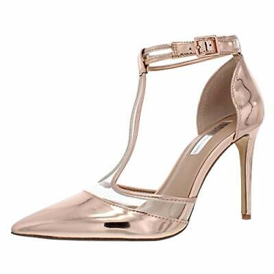 I35 Kaeley T Strap Pumps, Rose gold