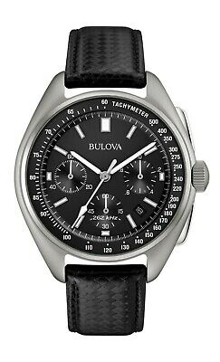 Bulova Men's Quartz UHF Chronograph Calendar Date Black Dial 45mm Watch 96B251
