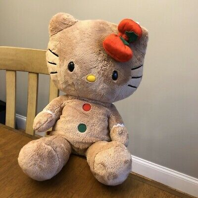 """Build a Bear Hello Kitty Plush Gingerbread Christmas Holiday Retired 19"""" Holly"""