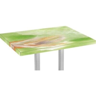 Table Top Rectangle 1200x400mm in Jade Marble Design for Restaurant Use