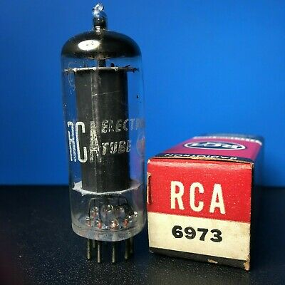 "RCA 6973 tube - gray plates, ""O"" getter, 1958, vintage NEW, NOS, Hickok tested"