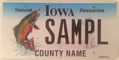 WILDLIFE FISH Angler license plate Fishing Trout Fisherman Bass angling fly