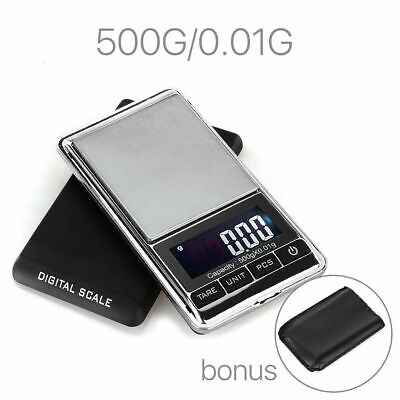NEW 500g 0.01 DIGITAL POCKET SCALES JEWELLERY ELECTRONIC milligram micro mg P