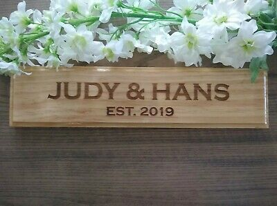 Personalised wooden Plaque Handmade Sign house Business name Christmas Gift