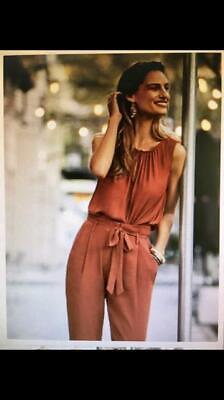 Sussan Set Rust Red, STUNNING!! Silky and Crepe top and pants, NEW! Size 10