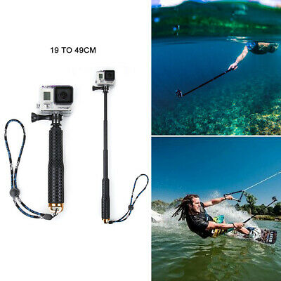 Waterproof Monopod Selfie Stick-Pole Handheld for Action Sports Camera 3Color