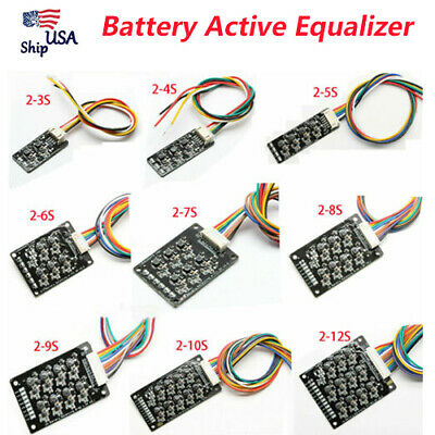 3S 4S 6S 10S ~17S Li-ion Lifepo4 LFP Battery Active Equalizer BMS Balancer USA