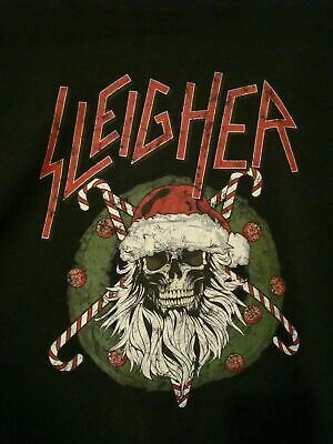 SLAYER Sleigher Christmas Skull Rock Sweat Reprint Black Men S-4XL T-shirt V528