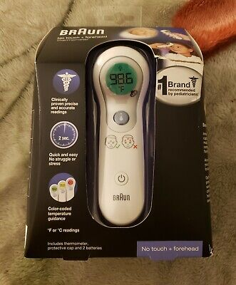 Braun No Touch And Forehead Thermometer NTF3000 Quick And Easy Brand New
