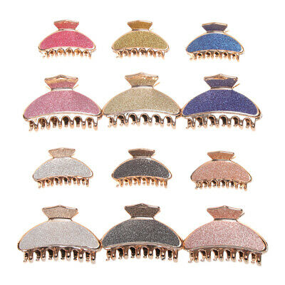 Barrette Plastic Glitter Hair Clip Hairpin Clamp Crab Hair Claw Styling Tools