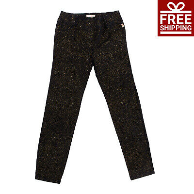 BILLIEBLUSH Velour Trousers Size 12Y Stretch Shiny Spotted Elasticated Waist