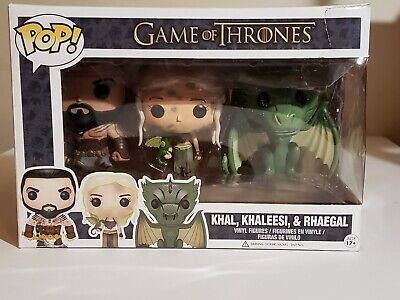 Funko Pop Khal, Khaleesi, & Rhaegal 3 Pack Game Of Thrones