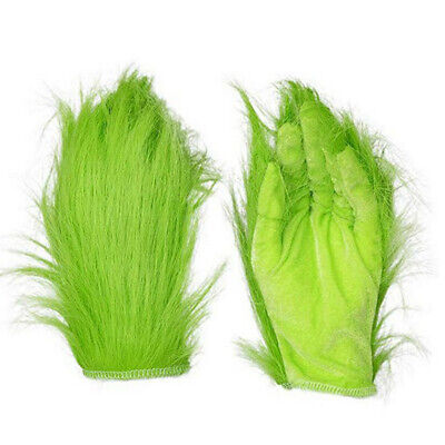 Grinch Plush Glove Christmas Halloween Deluxe Party Cosplay Props XMAS Supplies