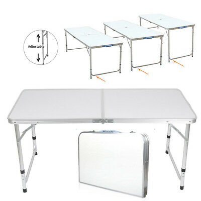 4/5/6FT Aluminum Camping Folding Table Portable Office Party Camping Picnic BBQ