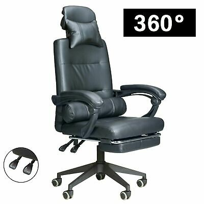 Swivel Executive Office Chair Racing Gaming Chair Computer Desk Leather Recliner