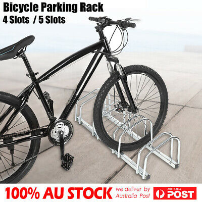 1 ~ 5 Bike Floor Parking Rack Instant Storage Stand Bicycle Cycling Portable