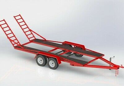 Build This Twin Axle  Car Trailer Plans Free Postage