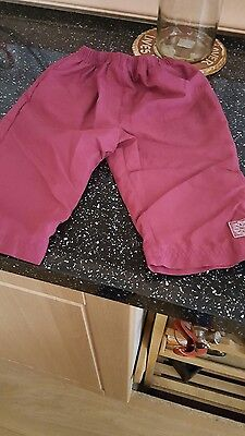 baby girls purple trousers size 12/18 months in great condition