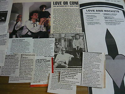 Love And Rockets - Magazine Cuttings Collection (Ref S12)