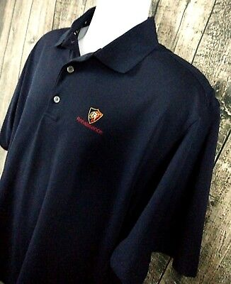 FootJoy FJ Mens Prodry Golf Polo Shirt Size M Blue Polyester Short Sleeve Sport