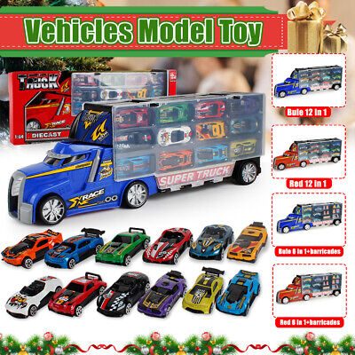 Toy Truck Carrier /& 6 Mini Cars Play Set Lorry Truck Transport Car Toys L3N6E
