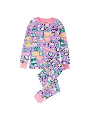 Hatley Children's Kitty Candy Long Sleeve Pyjamas Purple 8 YEARS BNWT FREE P&P