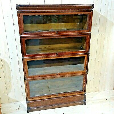 Globe Wernicke Four Sectional Locking Barrister's Bookcase