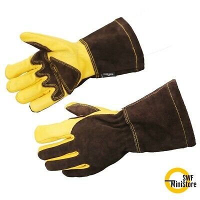13 inch Welding Gloves Genuine Cowhide Leather Mig Tig BBQ Grill One Size