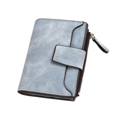 Women Bifold Zipper Purse PU Leather Wallet Mini Card Holder Clutch Handbag