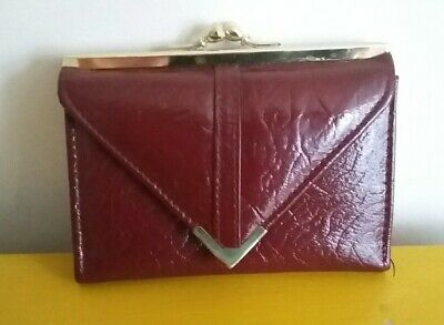 Vintage 1960's Red Leather Purse