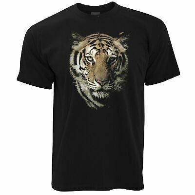Mens Wildlife Tiger Face T Shirt Majestic Big Cat Head Wild Animal Photo Tshirt