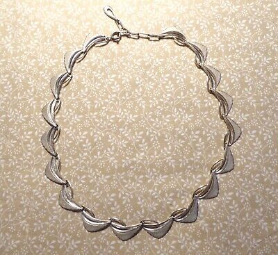 Vintage Mid Century Modern Sterling Silver Necklace 1950s 18.6g MCM