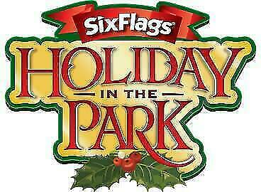 Two (2) SIX FLAGS One Day Admission E-Tickets Valid Until 12/31/19 Holiday Park