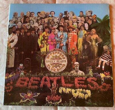 The Beatles LP SGT PEPPER'S ORIG 1967 UK MONO PMC 1st PRESS WIDE SPINE INNER