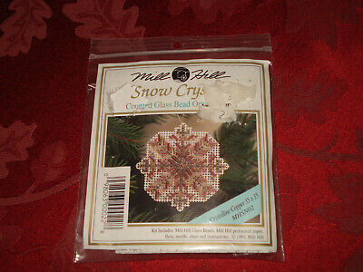 Mill Hill Snow Crystal CRYSTALLINE Copper Counted Glass Bead Ornament Kit MHSN02