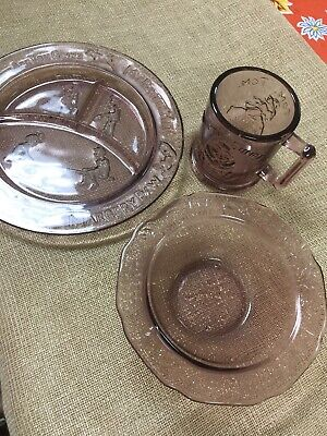 Three Piece Dish Set Plate Bowl Cup
