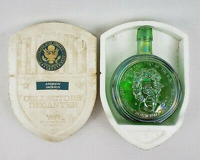 Andrew Jackson Limited Edition Collectors Decanter Vintage 1971 Glass Bottle
